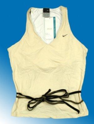 Top Damen Nike<br> Dri-Fit beige bra<br>genäht