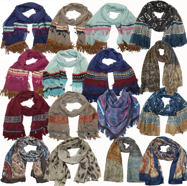 Package with 100 scarves
