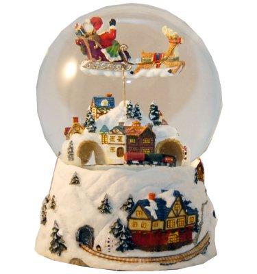 Schneekugel Santa 120mm - Sonderpreis Luftblase