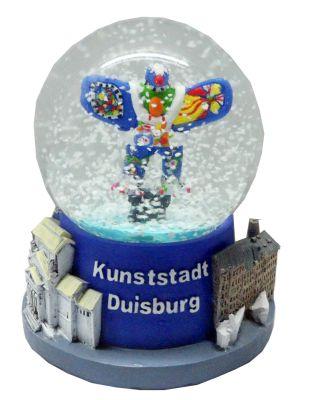Souvenir Schneekugel Kunststadt Duisburg