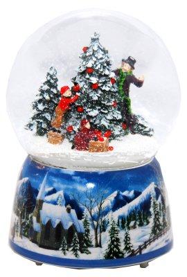 Noël boîte à<br> musique de globe<br>de neige tournant 14