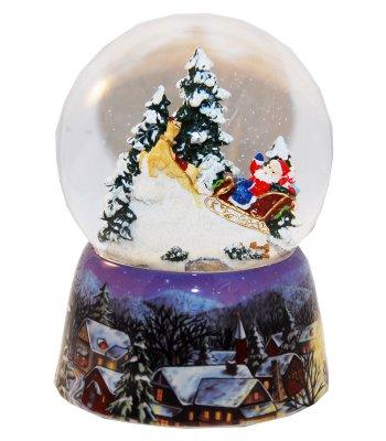 Sneeuwbol Kerstman<br>met muziek H: 140mm