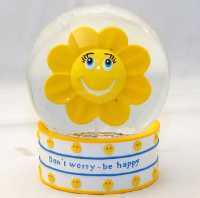 Snow Globe &quot;Do<br> not worry - Be ...