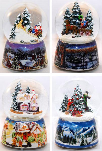 4 Snow Globes<br> Nosztalgia 140mm -<br>válogatni