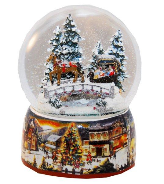 Mega-Schneekugel mit Musik und Licht H:200mm