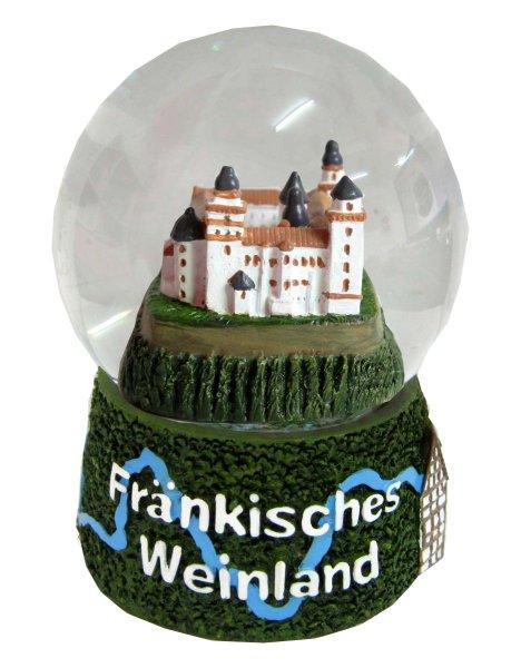 Souvenir Schneekugel Fränkisches Weinland