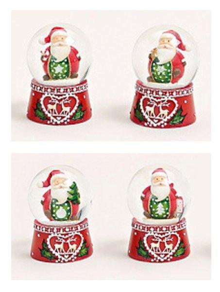 Schneekugel Weihnacht Nikolaus Nordic 45mm