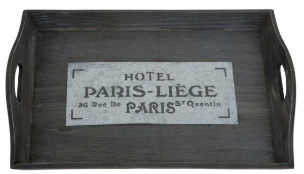 Nostalgisches Holz<br> Tablett  Hotel<br>PARIS-LIÈGE