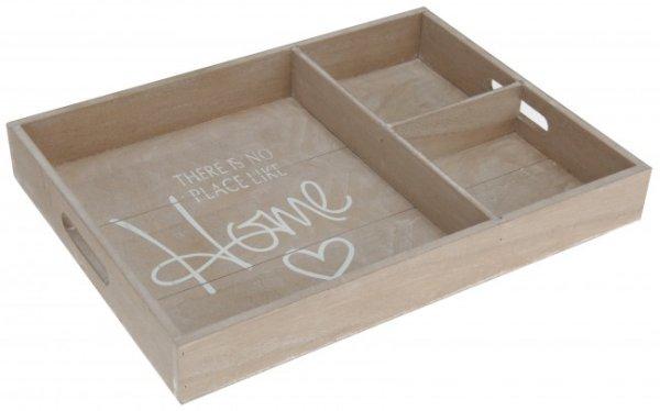 Holz Tablett mit<br> Spruch  Home  /<br>Frühstückstablett