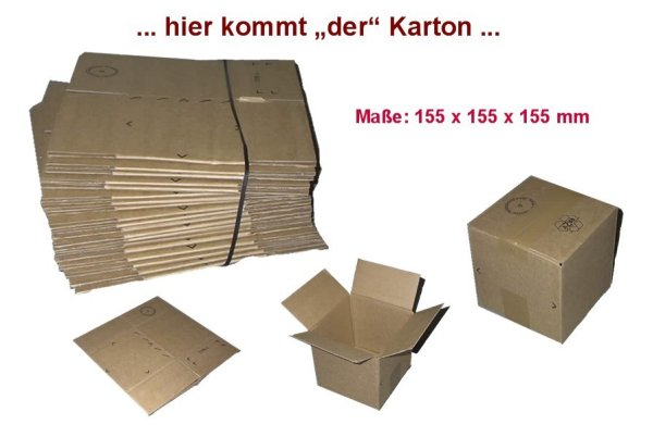 Shipping box 155 x<br>155 x 155 mm