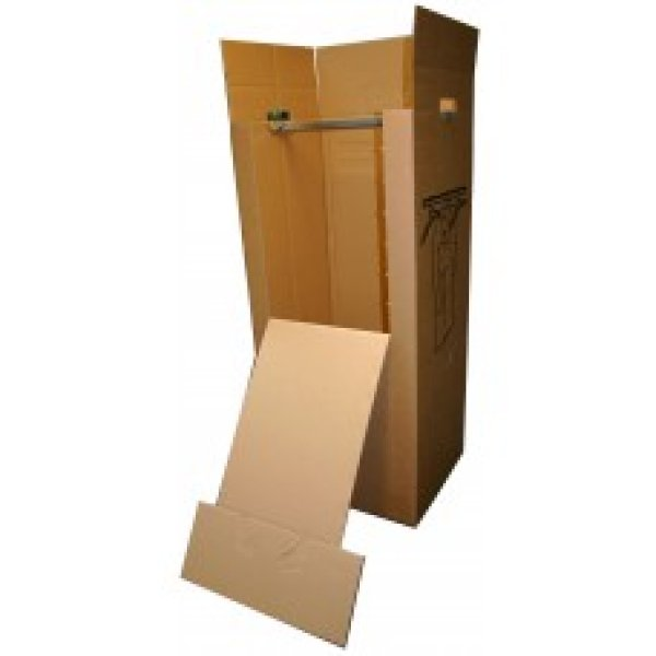 Kleiderbox with<br> metal rod 50 x 60<br>x 135 cm