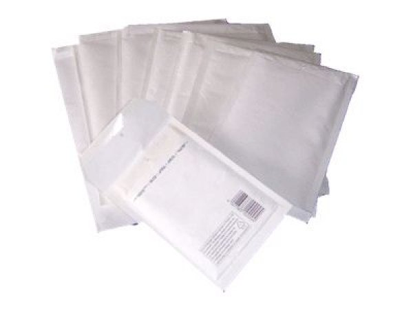 100 white air<br>bubble mailers B / 2