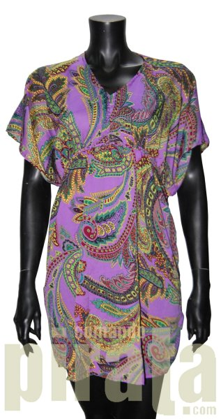 Printed dress with<br>wide sleeves