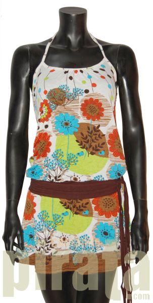 Kleid mit<br> trägerlosen<br>Ausschnitt