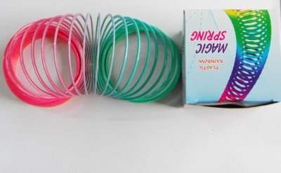 Bunte Spirale in<br>Box, 7,cm