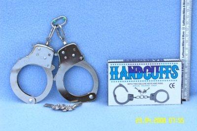 -Metall<br> Handschellen in<br>Schachtel