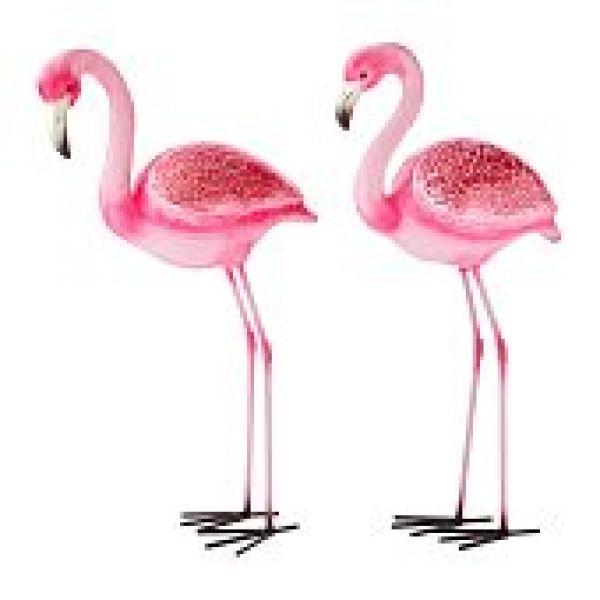 Flamingo-Figuren, 2er Set