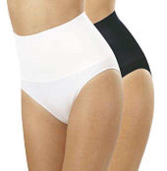 Figur Body-Taillenslip,2er-Set,schwarz/weiß,Gr.XL
