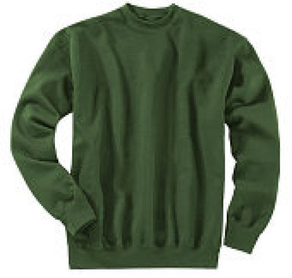 Fruit of the Loom Sweatshirt Rundhals, grün,Gr.XXL