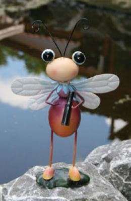Bee with binoculars