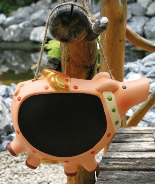 Pig as a writing<br> board &quot;to<br>hang up&quot;