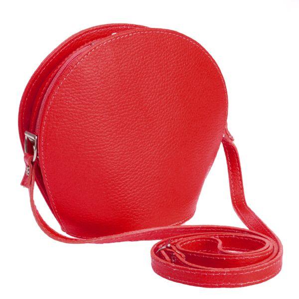 Italy Real Leather<br> Messenger Bag<br>Handbag Red