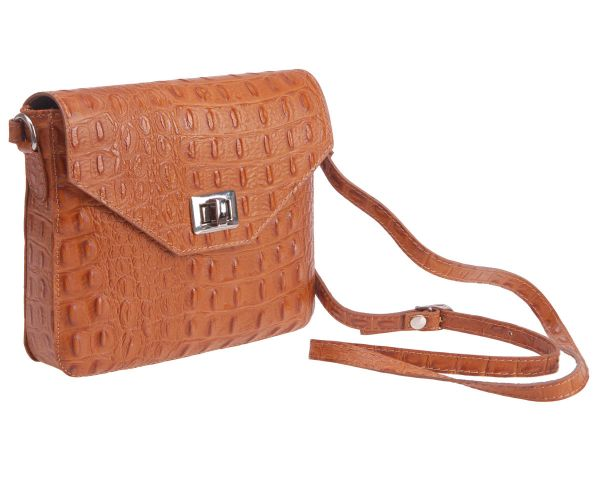 Real Leather<br> Messenger Bag<br>Ladies Bag Cognac