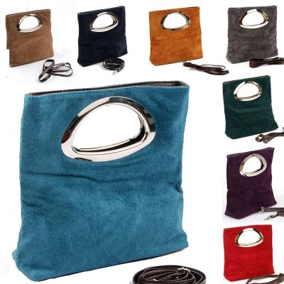 Made in Italy<br> Suede handbag in<br>many color