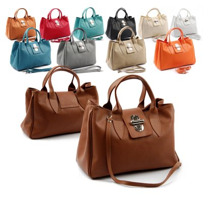 Made in<br>ItalyLeather Handbag