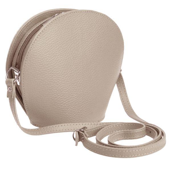 Italy Echtleder<br> Messenger Tasche<br>Handtasche Taupe