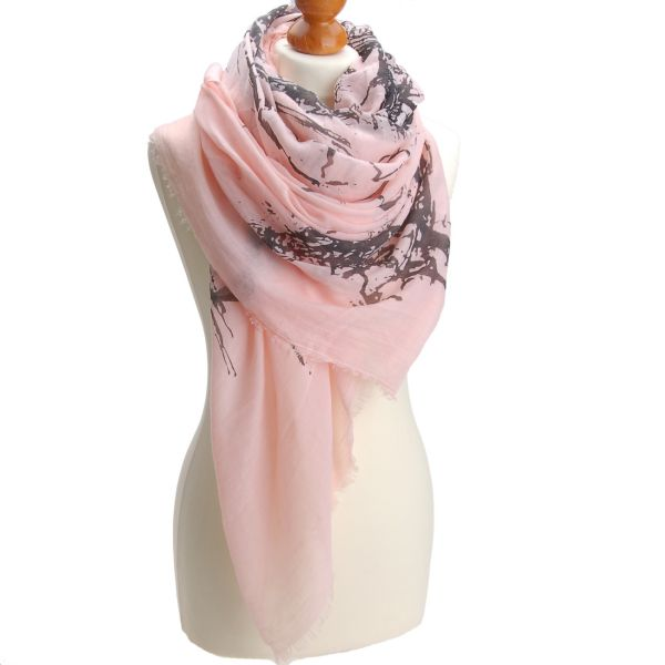 Schal  Paris  Rosa<br> 20% Baumwolle gute<br>Qualität