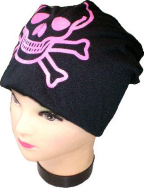 Mütze, Beanie mit<br>Skull bedruckt
