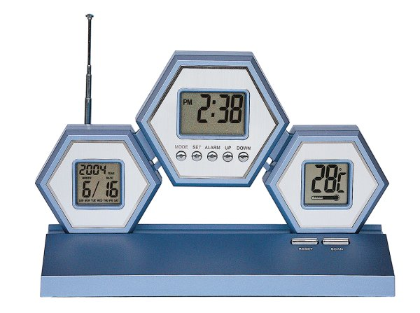 LCD CLOCK RADIO +<br>+ THERMOMETER