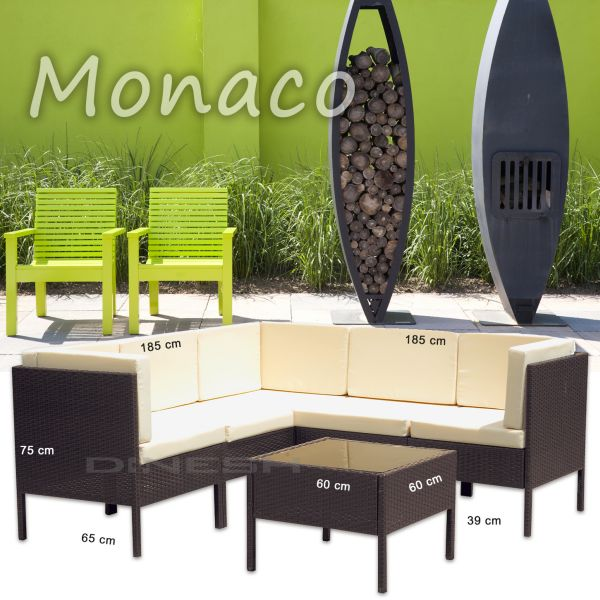 MONACO rattan<br> BROWN POLY RATTAN<br>GARDEN FURNITURE G