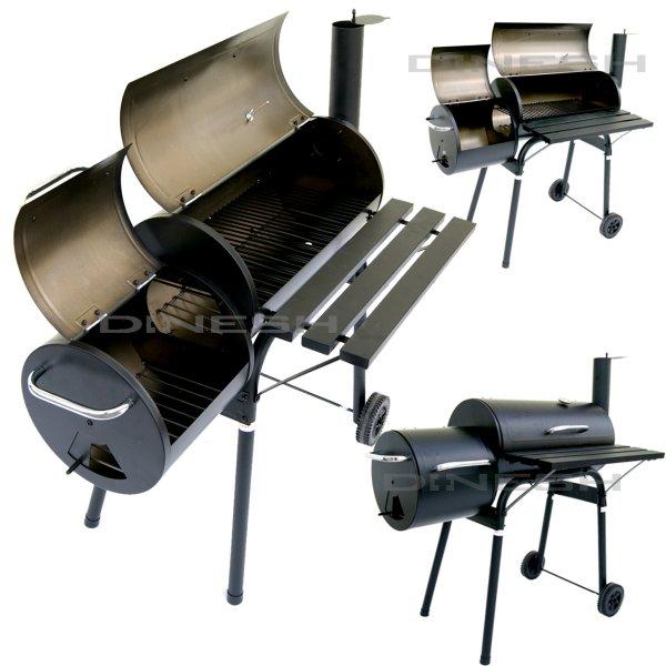 PROFESSIONAL XXL<br> Smoker BBQ GRILL<br>CART charcoal gr