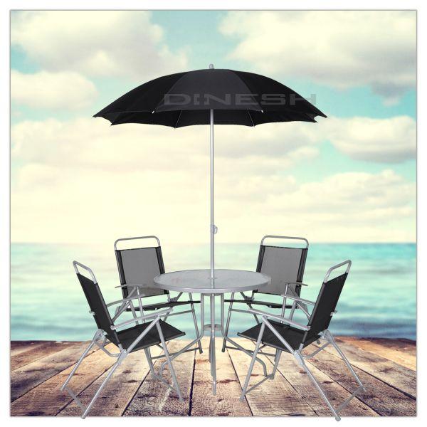 (020) Gartenmöbel<br> mit 4 Stühlen<br>Bistrotisch Sonnen