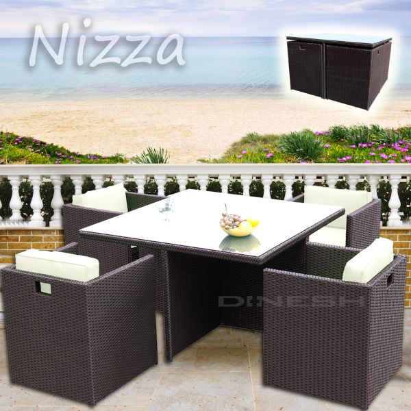 NICE  rattan<br> BROWN POLY RATTAN<br>GARDEN FURNITURE