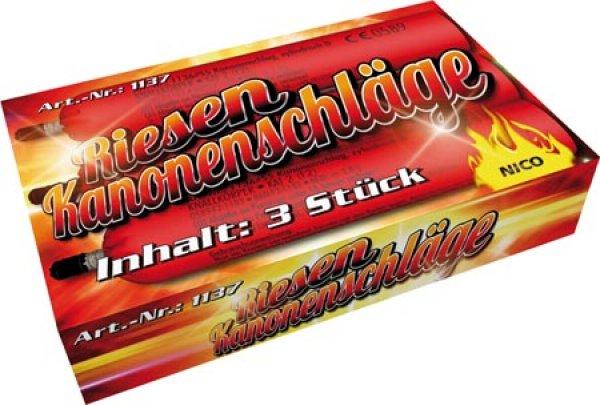 Nico Kanonenschlag 3er Knall Feuerwerk