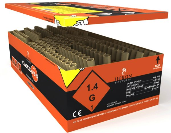 Heron Cake456 178-S- PROFI - Batterie Feuerwerk