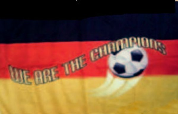 Fahne Deutschland We are the Champions 90x150cm