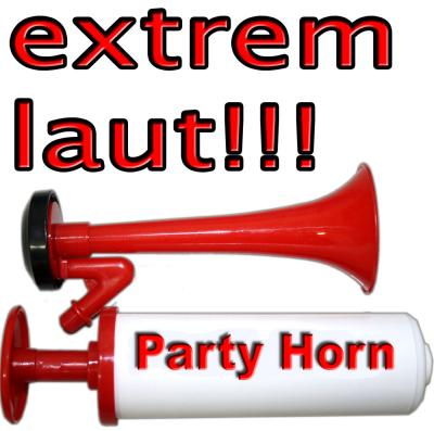 SIGNALHORN Partytröte ohne Gas f. Stadion  Party