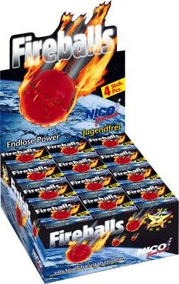 Fireballs, 4er-Powerballs,  Fugend Feuerwerk
