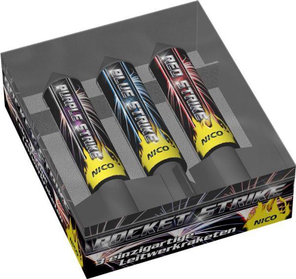 Rocket Strike 3er Raketen Feuerwerk Neuheit