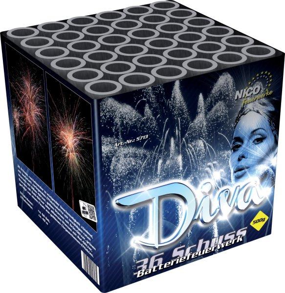 Diva 36-Schuss Silvester Feuerwerksbatterie