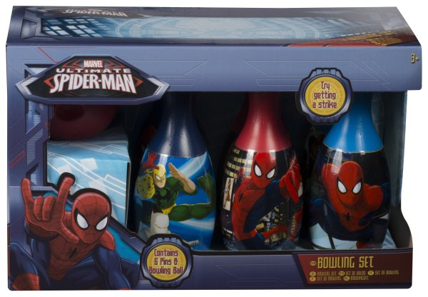 Bowling Set mit<br> Ball Ultimate<br>Spiderman