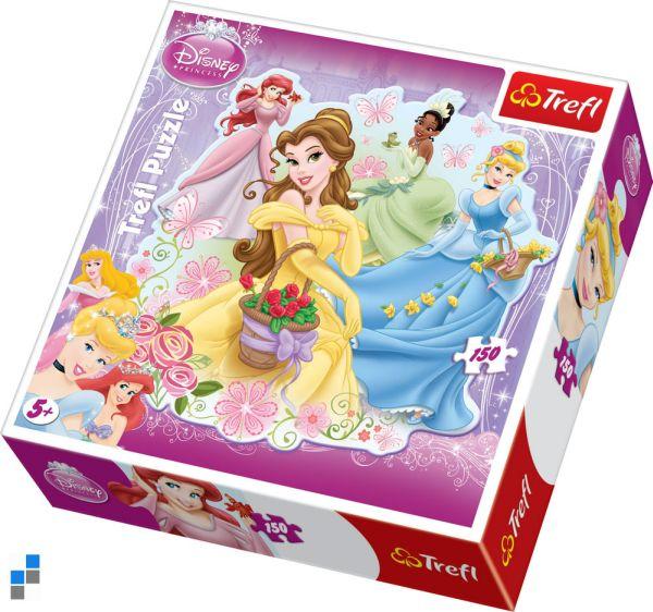 Puzzel 150 stuks<br> 68x67cm Princess<br>in verpakking