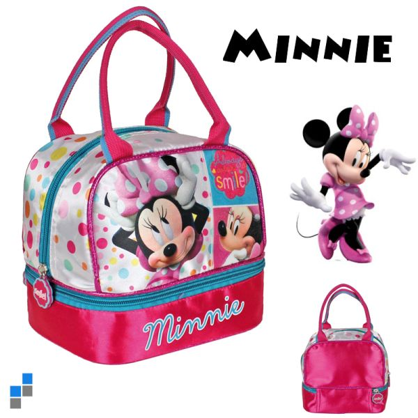 Kindergarten bag<br> with bread tray<br>18x17x14cm Minnie