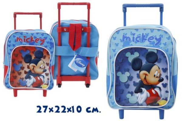 Trolley Koffer<br> 27cm 2-fach<br>sortiert Mickey