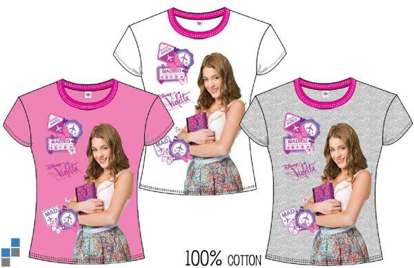 T-shirt 3 assortis Violetta taille 4-12 ans
