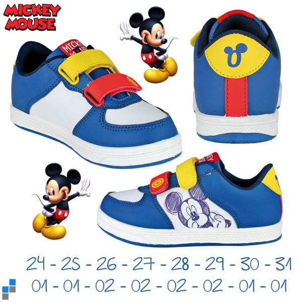 Sports shoes size<br> 24-31 sorted<br>Disney Mickey